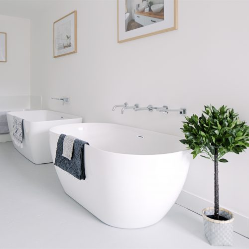 Boxed in and freestanding baths