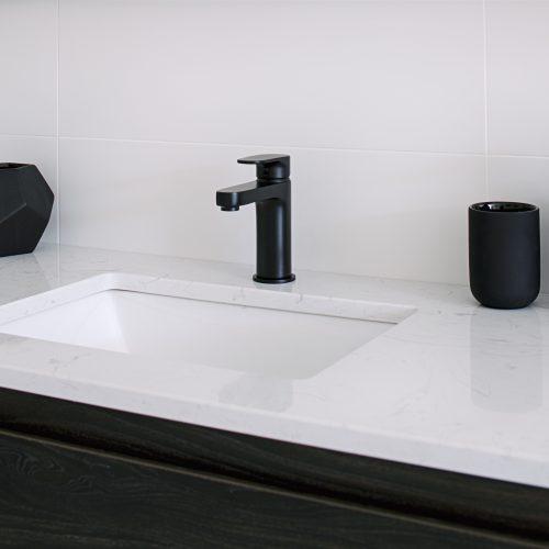 Methven Glide basin mixer tap in matte black